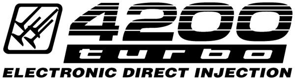 "Land Cruiser ""4200 turbo EDI"" stickers x2"