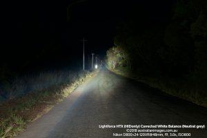Lightforce HTX road scene corrected white balance