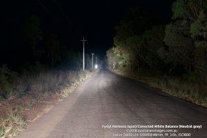 Fyrlyt Nemesis spot road scene corrected white balance