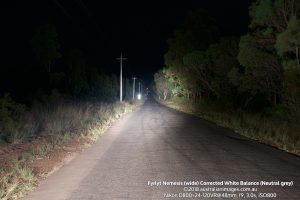 Fyrlyt Nemesis wide road scene corrected white balance